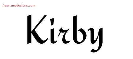 Calligraphic Stylish Name Tattoo Designs Kirby Free Graphic