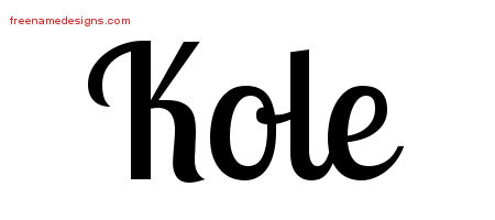 Handwritten Name Tattoo Designs Kole Free Printout