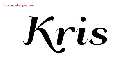 Art Deco Name Tattoo Designs Kris Printable
