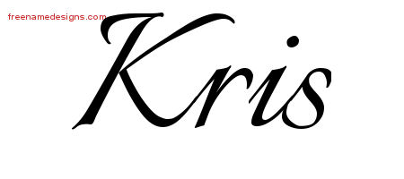 Calligraphic Name Tattoo Designs Kris Free Graphic