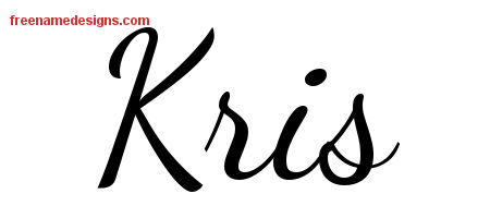 Lively Script Name Tattoo Designs Kris Free Download