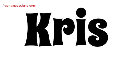 Groovy Name Tattoo Designs Kris Free Lettering