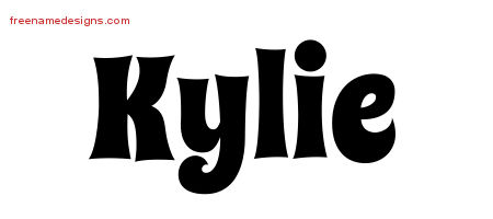Groovy Name Tattoo Designs Kylie Free Lettering