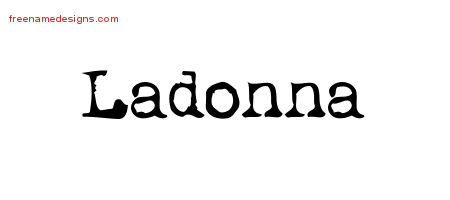 Vintage Writer Name Tattoo Designs Ladonna Free Lettering