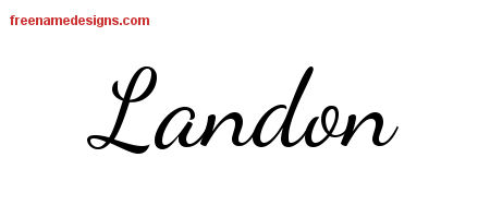 Lively Script Name Tattoo Designs Landon Free Download