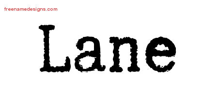 Typewriter Name Tattoo Designs Lane Free Printout