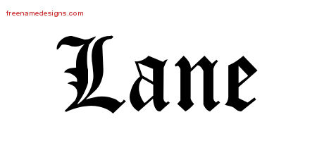 Blackletter Name Tattoo Designs Lane Graphic Download