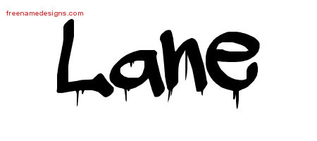 Graffiti Name Tattoo Designs Lane Free Lettering