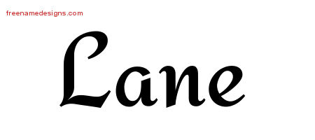 Calligraphic Stylish Name Tattoo Designs Lane Free Graphic