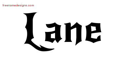 Gothic Name Tattoo Designs Lane Free Graphic