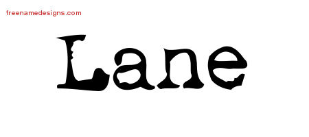 Vintage Writer Name Tattoo Designs Lane Free Lettering