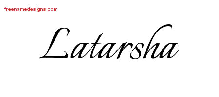 Calligraphic Name Tattoo Designs Latarsha Download Free