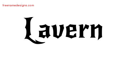 Gothic Name Tattoo Designs Lavern Free Graphic