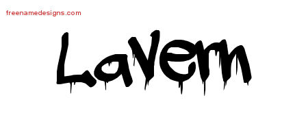 Graffiti Name Tattoo Designs Lavern Free Lettering