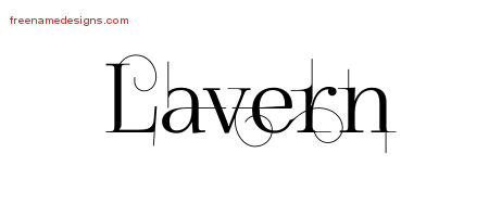 Decorated Name Tattoo Designs Lavern Free