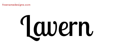 Handwritten Name Tattoo Designs Lavern Free Download