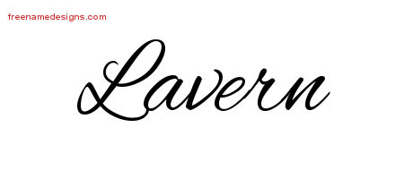 Cursive Name Tattoo Designs Lavern Download Free