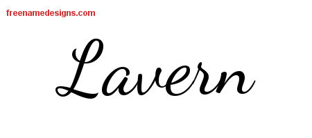 Lively Script Name Tattoo Designs Lavern Free Printout