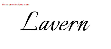 Calligraphic Name Tattoo Designs Lavern Download Free
