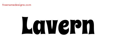 Groovy Name Tattoo Designs Lavern Free Lettering