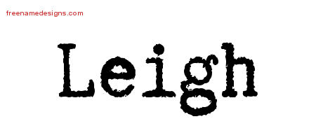 Typewriter Name Tattoo Designs Leigh Free Download