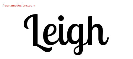 Handwritten Name Tattoo Designs Leigh Free Printout
