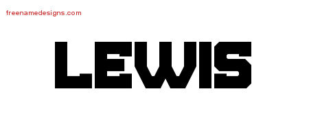 Titling Name Tattoo Designs Lewis Free Printout