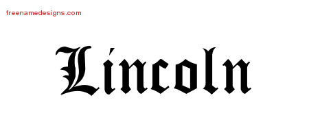 Blackletter Name Tattoo Designs Lincoln Printable