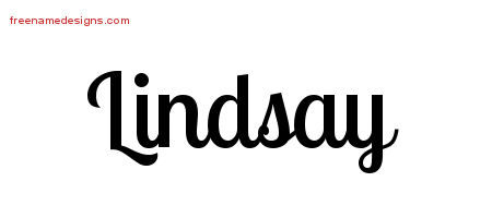Handwritten Name Tattoo Designs Lindsay Free Download
