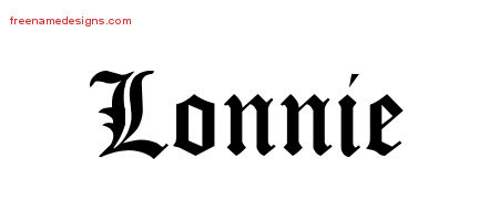 Blackletter Name Tattoo Designs Lonnie Graphic Download