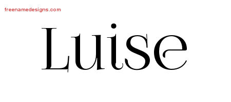 Vintage Name Tattoo Designs Luise Free Download