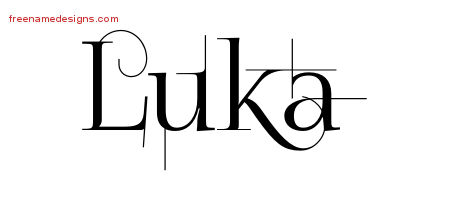Decorated Name Tattoo Designs Luka Free Lettering
