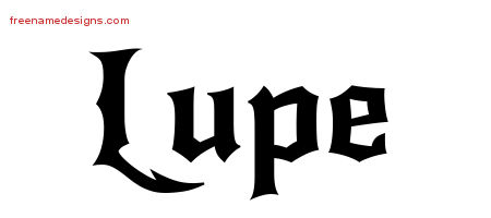 Gothic Name Tattoo Designs Lupe Download Free