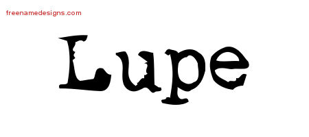 Vintage Writer Name Tattoo Designs Lupe Free Lettering