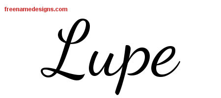 Lively Script Name Tattoo Designs Lupe Free Printout