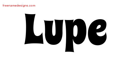Groovy Name Tattoo Designs Lupe Free