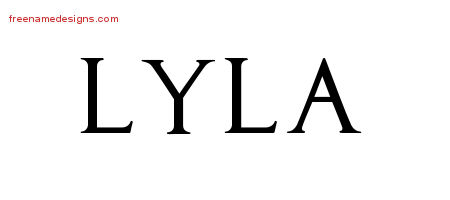 Regal Victorian Name Tattoo Designs Lyla Graphic Download