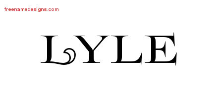 Flourishes Name Tattoo Designs Lyle Graphic Download