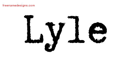 Typewriter Name Tattoo Designs Lyle Free Printout
