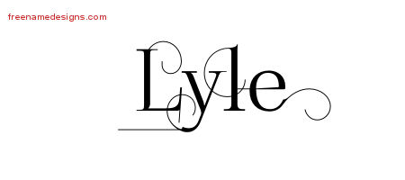 Decorated Name Tattoo Designs Lyle Free Lettering