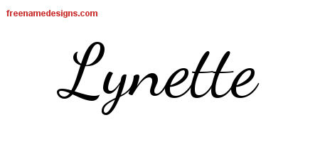 Lively Script Name Tattoo Designs Lynette Free Printout