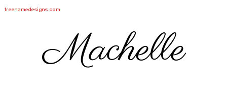 Classic Name Tattoo Designs Machelle Graphic Download