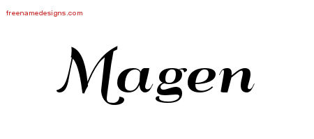 Art Deco Name Tattoo Designs Magen Printable