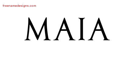 Regal Victorian Name Tattoo Designs Maia Graphic Download