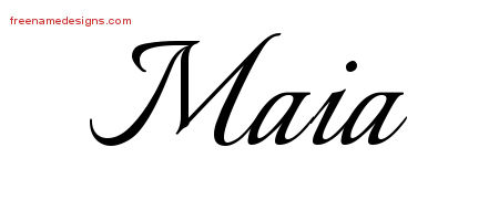 Calligraphic Name Tattoo Designs Maia Download Free