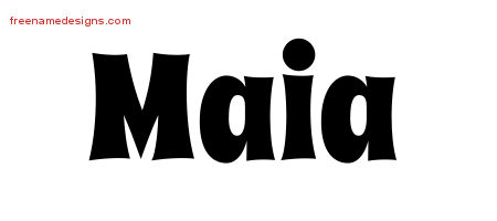 Groovy Name Tattoo Designs Maia Free Lettering