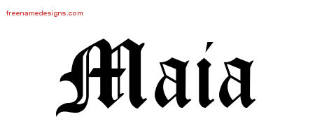 Blackletter Name Tattoo Designs Maia Graphic Download