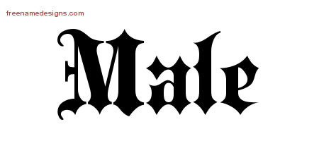Old English Name Tattoo Designs Male Free Lettering - Free Name Designs