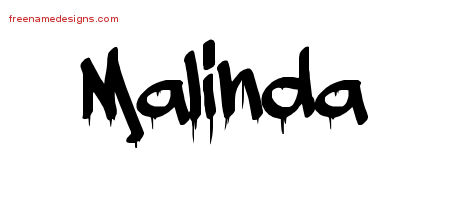 Graffiti Name Tattoo Designs Malinda Free Lettering