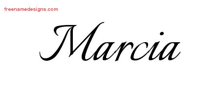 Calligraphic Name Tattoo Designs Marcia Download Free